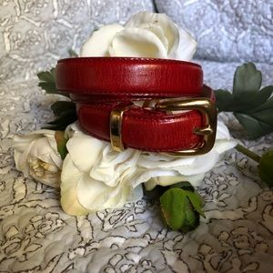 🦋 EUC Talbots Red Leather Belt